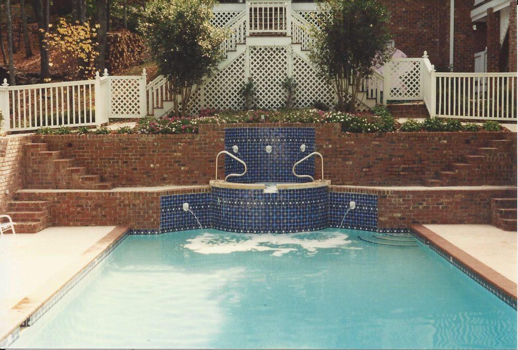 pool, spa, fountains