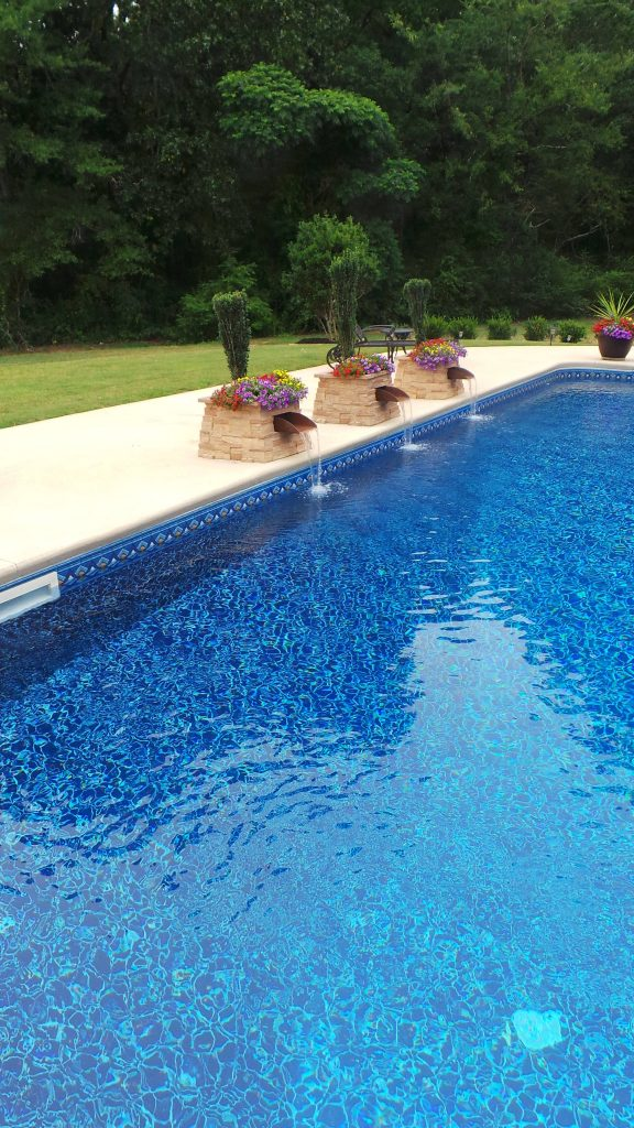 Features anchor pools and spas for A new salon seneca sc