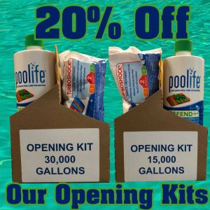 20% off our Pool Opening Kits