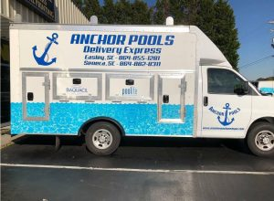Anchor Pools Delivery Truck
