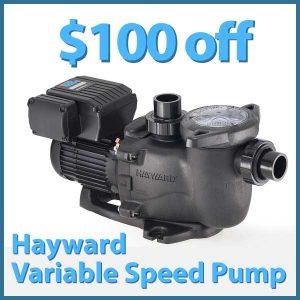 $100 off Hayward Variable Speed Pump