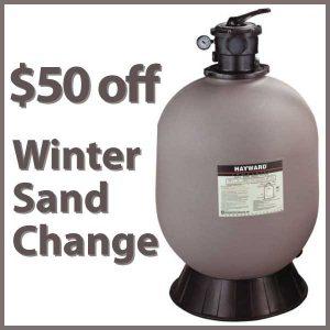 $50 off Winter Sand Change