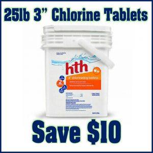 25lb 3in Chlorine Tablets - Save $10