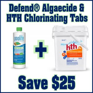 Defend® Algaecide and HTH 3in Chlorinating Tabs - Save $25