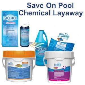 Save on Pool Chemical Layaway